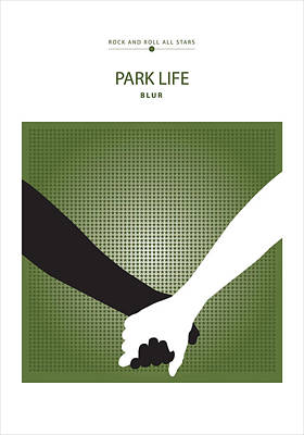 Digital Art - Park Life -- Blur by David Davies