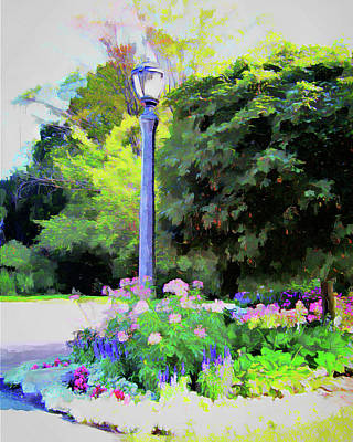 Digital Art - Park Light by Leslie Montgomery