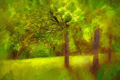 Painting - Park by Lutz Baar