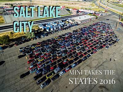 Photograph - Park / Salt Lake City Rise/shine 1 W/text by That MINI Show