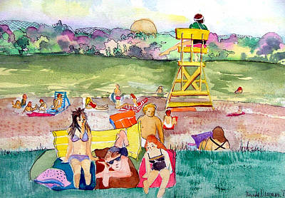 Park Side Beaches Print by Mindy Newman