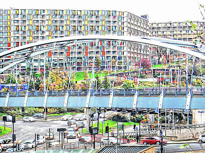 Photograph - Park Square Bridge Sheffield by Dorothy Berry-Lound