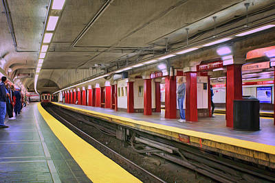Photograph - Park Street - Red Line - Boston by Nikolyn McDonald