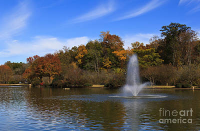 Photograph - Park Water Fountain by Jill Lang