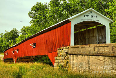 Photograph - Parke County West Union Covered Bridge by Adam Jewell