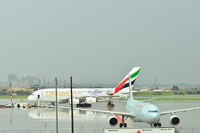 Photograph - parked A380 by Puzzles Shum