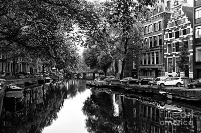 Photograph - Parked Along The Canal Mono by John Rizzuto