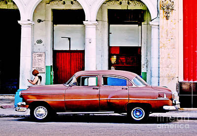 Photograph - Havana Car by Ethna Gillespie