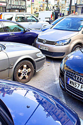England Photograph - Parked Cars by Tom Gowanlock