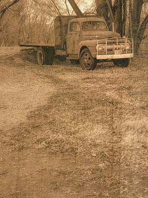 Photograph - Parked For Winter Sepia by David King