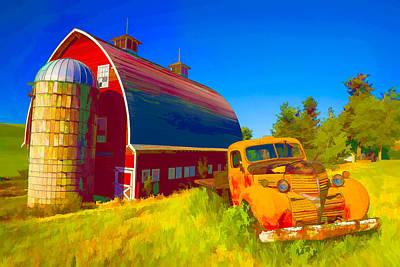 Farmland Digital Art - Parked In Front  II by Jon Glaser