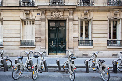 Photograph - Paris Bicycles - Paris, France by Melanie Alexandra Price