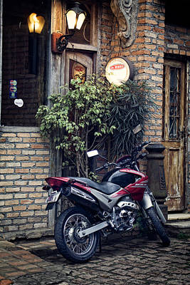 Photograph - Parked Motorcycle by Kim Wilson