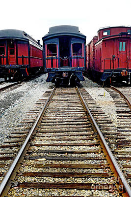 Photograph - Parked On A Siding by Paul W Faust - Impressions of Light