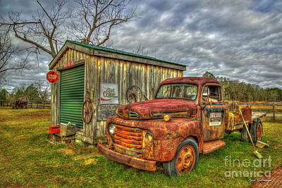 Photograph - Parked Out Back 1950 Ford F5 Flatbed Truck Art by Reid Callaway