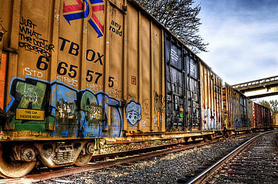 Photograph - Parked Train by Tyra OBryant