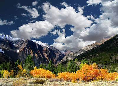No People Photograph - Parker Canyon Fall Colors California's High Sierra by Bill Wight CA