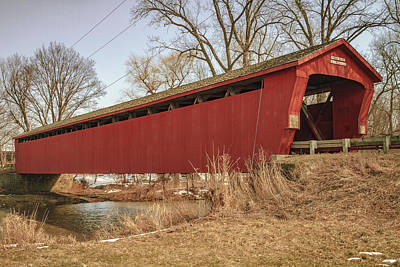 Music Royalty-Free and Rights-Managed Images - Parker Covered Bridge  by Jack R Perry