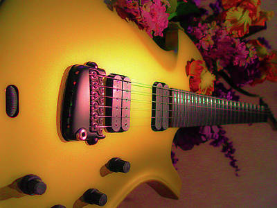 Digital Art - Parker Fly Guitar Hover Series by Guitar Wacky