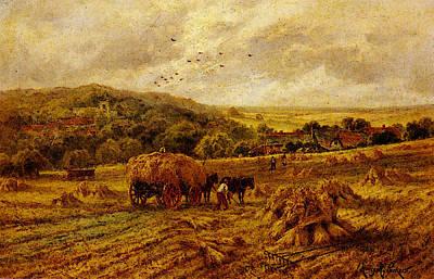 Parker Henry H Harvest Time Lambourne Berks Art Print