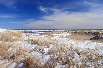 Photograph - Parker River National Wildlife Refuge Dunes In Winter by John Burk