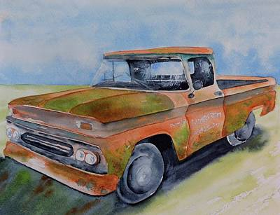 Painting - Parker's Farm Pick Up by Carol Bruno