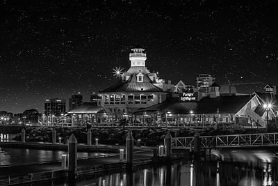 Photograph - Parkers Lighthouse Bw by Robert Hebert