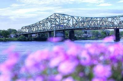 Parkersburg Wv Photograph - Parkersburg Wv -- Belpre Oh Bridge by Deborah Lorentz