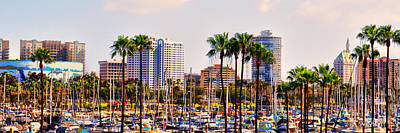 Digital Art - Parking And Palms In Long Beach by Bob Winberry