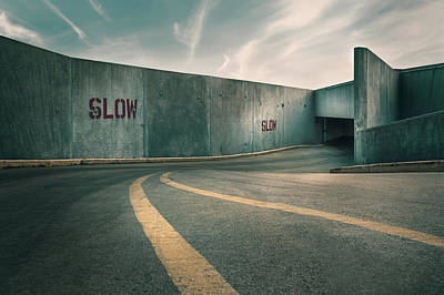 Concrete Photograph - Parking Garage At The End Of The World by Scott Norris