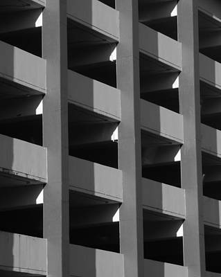 Parking Garage Milwaukee Abstract 2334 Art Print