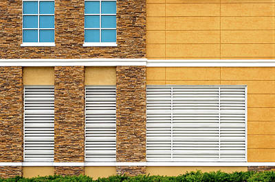 Art Print featuring the photograph Parking Garage Vent Wall Detail by Frank J Benz