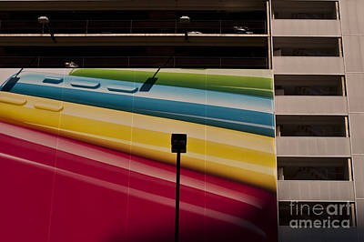 Photograph - Parking Garage With Multicolored Mural by Jim Corwin