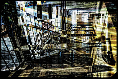 Digital Art - Parking Level Six by Mike Braun
