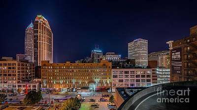 Downtown Cleveland Photograph - Parking Lot View  by Frank  Cramer
