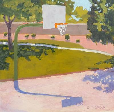 Painting - Parkside Hoops by Bill Tomsa