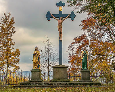 Photograph - Parkstein Crucifix by Shirley Radabaugh