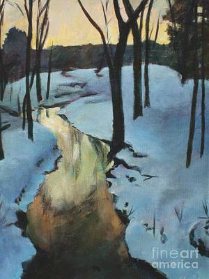 Painting - Parlee Farm Sunset Creek by Claire Gagnon