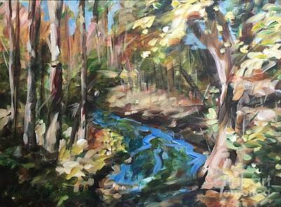 Painting - Parlee's Farm Fall Creek by Claire Gagnon