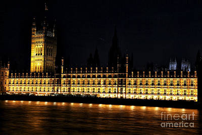Photograph - Parliament At Night by John Rizzuto