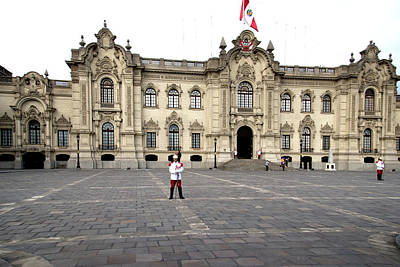 Digital Art - Parliament Building In Lima by Carol Ailles