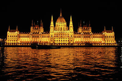 Blue Photograph - Parliament In Budapest by Roberto Chiartano