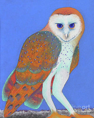 Parliament Of Owls Detail 1 Art Print by Tracy L Teeter