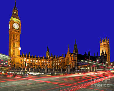 The Clock Photograph - Parliament Square In London by Chris Smith