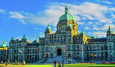 Parliament Victoria Bc Art Print
