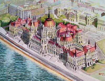 Painting - Parliment Of Hungary by Charles Hetenyi