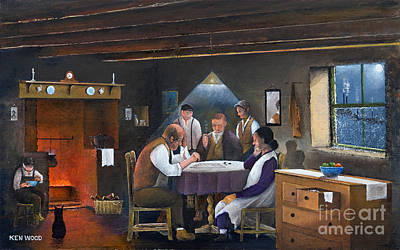 Painting - Parlour Games by Ken Wood