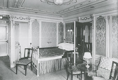 First-class Photograph - Parlour Suite Of Titanic Ship by Photo Researchers