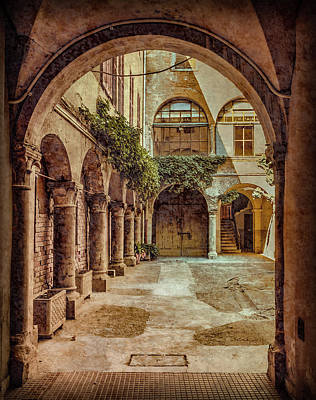 Photograph - Parma, Italy - Private Courtyard by Mark Forte
