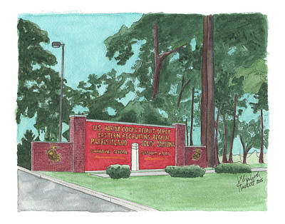 Painting - Parris Island Welcome by Betsy Hackett